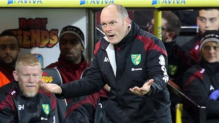 Norwich City manager Alex Neil during his team's 3-0 defeat at home to Tottenham Hotspur. Picture: P