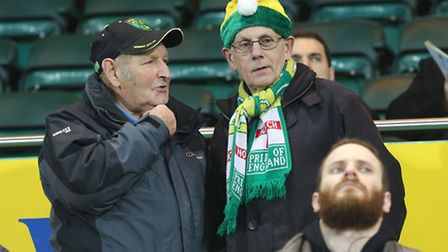 The Norwich City fans were in festive mood before kick-off on Friday, at least. Picture by Paul Ches