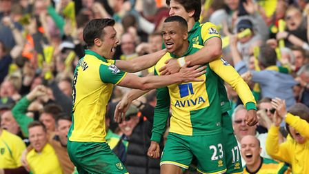 So here it is... Martin Olsson provides one of few highlights for Norwich City during 2016. Picture