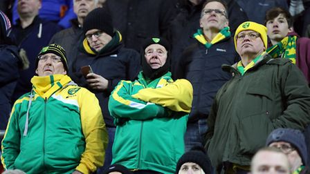 The traveling Norwich City fans didn't have much to smile about at Rotherham United on Saturday. Pic