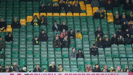 A sparse home crowd watched Norwich City's FA Cup tie against Southampton. Picture by Paul Chesterto