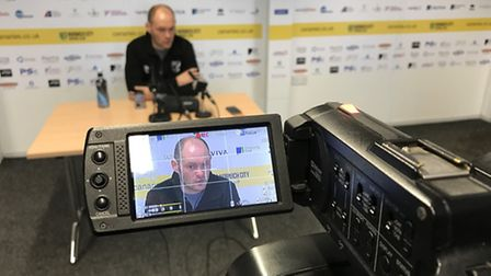 Norwich City manager Alex Neil speaks to Mustard TV and the rest of the press ahead of his side's EF