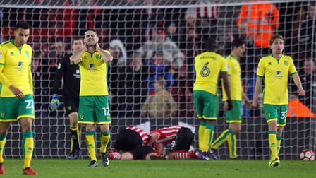 Robbie Brady's face says it all as Norwich City succumb to an injury-time winner at Southampton in t