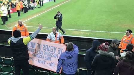As captured by Talk Norwich City, Canaries fans gave a new home to the banner taken to Carrow Road b