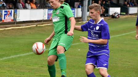 Connor Ingram was on target in Gorleston's win over Great Yarmouth Town. Picture: SUPPLIED