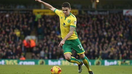 Robbie Brady of Norwich in action during the Sky Bet Championship match at Carrow Road, NorwichPictu