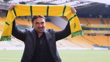 Daniel Farke gets used to his new surroundings. Picture: DENISE BRADLEY