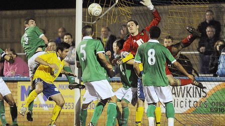 Matthews in Senior Cup action against King's Lynn in 2012.