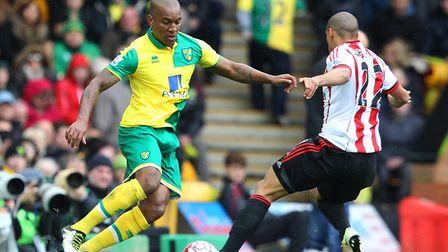Andre Wisdom spent the 2015-16 season on loan at Norwich from Liverpool. Picture by Paul Chesterton/