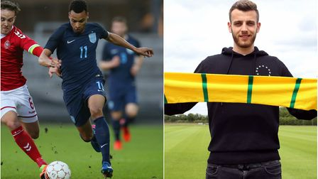 Norwich City's Jacob Murphy (left) and Angus Gunn will represent England at this summer's European U