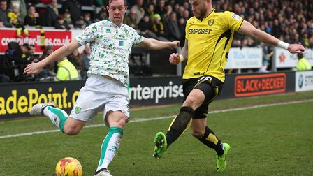 Michael Kightly, right, scored against Norwich for Burton last season. Picture by Paul Chesterton/Fo