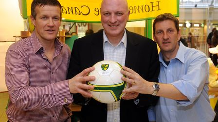 City's management team of 2009, from left, Ian Butterworth, Bryan Gunn and Ian Crook didn't get to s