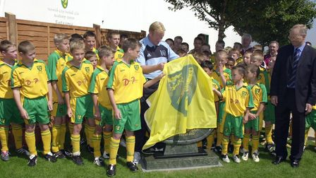 Current Everton manager Ronald Koeman officially opened Norwich City's Academy Arena at Conley back