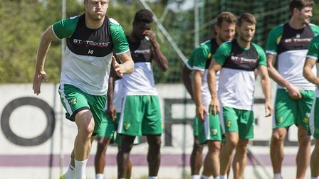 Steven Naismith in action during Norwich City's pre-season training camp in Austria last year. Pictu