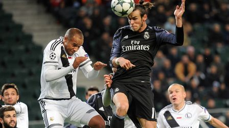 Vadis Odjidja-Ofoe, left, in action for Legia Warsaw against Gareth Bale of Real Madrid earlier this
