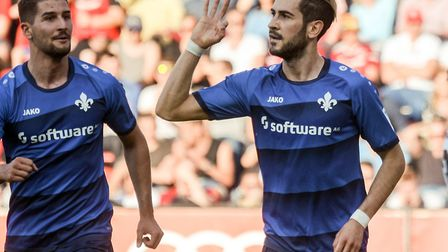 Darmstadt's Mario Vrancic is set to sign a three-year deal with Norwich City. Picture: Armin Weigel/