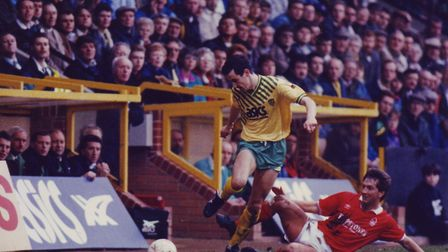 Ian Culverhouse, dated 09/03/91, during a 1-0 defeat to Nottingham Forest in the sixth round of the