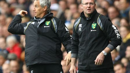 Ian Culverhouse during his time as assistant to Paul Lambert at Norwich City. Picture: Paul Chestert