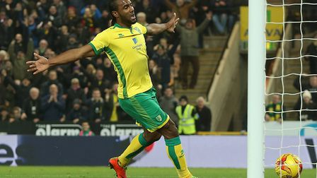 Cameron Jerome celebrates scoring in a 2-2 draw with Newcastle at Carrow Road in February. Picture: