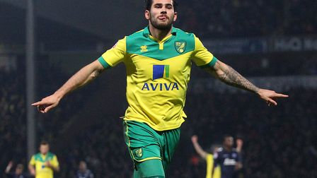 Bradley Johnson celebrates one of his 15 goals during his stunning final season with Norwich City. P