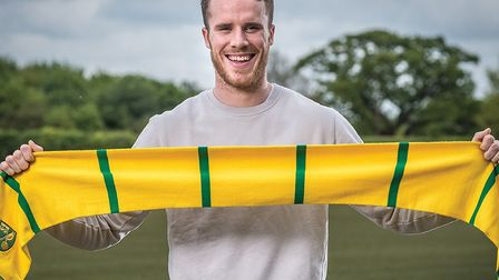 Marley Watkins was Norwich City's first signing to be announced ahead of next season. Picture: Jason
