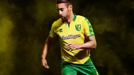Norwich City's new kit was apparently leaked on Twitter, modelled by City defender Ivo Pinto.