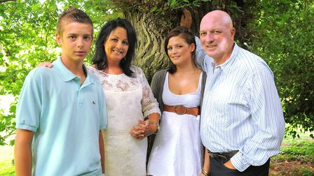Bryan Gunn with his family: wife Susan, daughter Melissa and son Angus, back in 2009. Picture: Archa