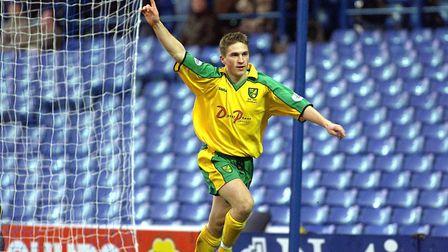 Paul McVeigh celebrates after scoring at Sheffield Wednesday in December, 2001. Picture: Archant