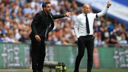 Huddersfield Town manager David Wagner got the better of Jaap Stam at Wembley. Picture: Mike Egerton