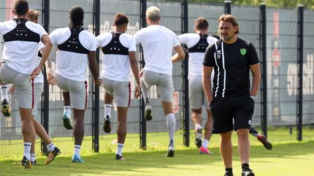 Daniel Farke puts Norwich City players through their paces. Picture: Paul Chesterton/Focus Images Lt