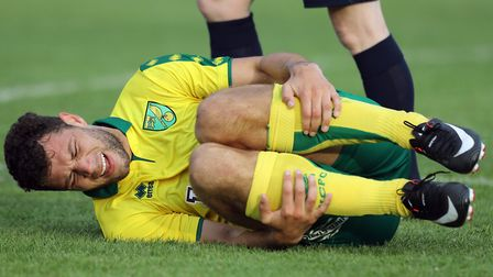 Yanic Wildschut feels the pain of a Cobh challenge in Norwich City's opening pre-season friendly. Pi