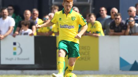 Harrison Reed made his pre-season debut for Norwich City at Lowestoft. Picture: Paul Chesterton/Foc