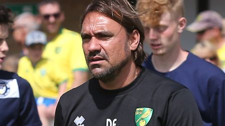 Head coach Daniel Farke had plenty to think about as his team eased to a friendly win at Lowestoft T