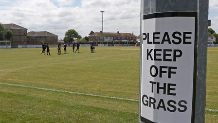 General view's before the Pre-season Friendly match at Crown Meadow, LowestoftPicture by Paul Cheste