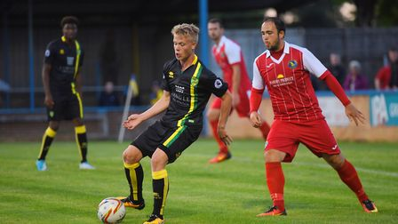 King's Lynn Town v Norwich City at The Walks. Pictured is City's Kieren Higgs. Picture: Ian Burt