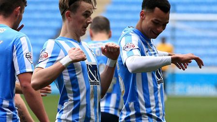 Jacob Murphy, pictured celebrating a goal with future Norwich team-mate James Maddison, enjoyed a su