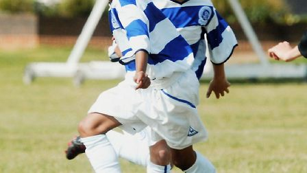 Jacob in action for OPR's academy as a youngster. Picture: Matthew Usher.