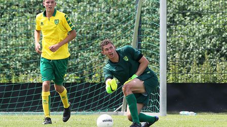 Norwich City keeper Aston Oxborough was impressive in the development squad's first tour match.Pictu