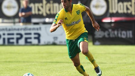 Nelson Oliveira looks likely to start the season as first-choice striker for Norwich. Picture by Pau