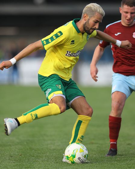 Mario Vrancic of Norwich City during the Pre-season Friendly match at St Colman's Park, CobhPicture