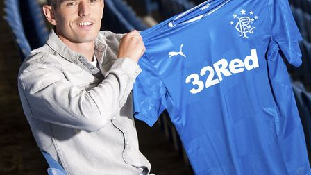 Graham Dorrans shows of fhis new colours. Picture: PA