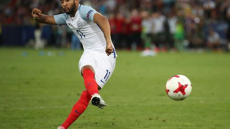 England's Nathan Redmond misses the key penalty during the UEFA European Under-21 Championship semi-