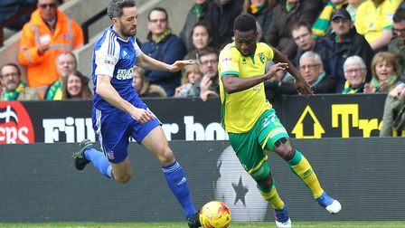 Both of Norwich City's matches against Ipswich this season will be Sunday midday kick-offs. Picture