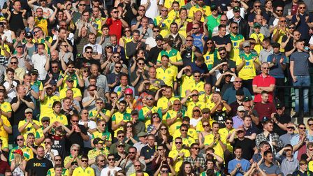 The perfect picture - happy Norwich City fans at Carrow Road. Picture: Paul Chesterton/Focus Images