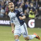 Dom Dwyer had reason to celebrate after scoring on his debut for the US. Picture: Mike Gunnoe