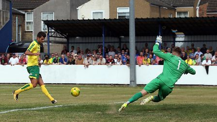 Nelson Oliveira came off the bench to put City 4-1 up at Lowestoft - and calm talk of a reported mov