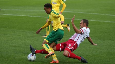 Norwich City were awarded an early spot kick when Jamal Lewis was fouled by Luke Wilkinson at the La