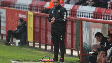 Head coach Daniel Farke keeps a close eye on his players. Picture by Paul Chesterton/Focus Images