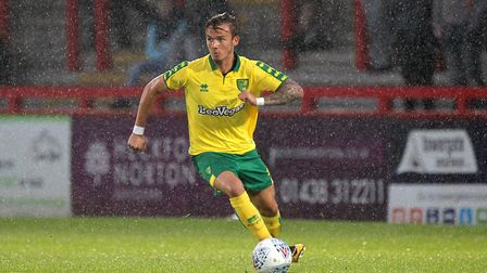 James Maddison of Norwich in action during the Pre-season Friendly match at the Lamex Stadium, Steve