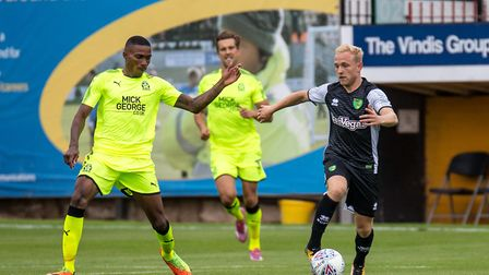 Alex Pritchard of Norwich City during the Pre-season Friendly match at the Cambs Glass Stadium , Cam
